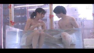 【マジックミラー号】爆乳JDがMM号のなかで混浴からの中出しを隠し撮りしちゃいましたw
